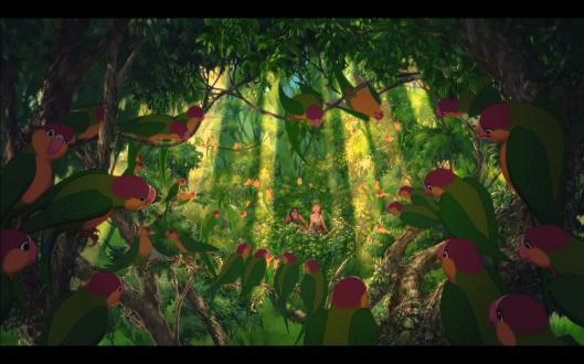 tarzan shows jane the parrots
