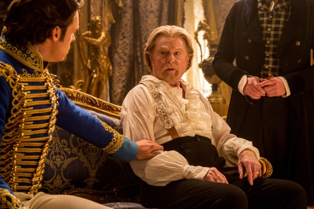 Richard Madden is the Prince and Derek Jacobi is the King in Disney's live-action CINDERELLA, directed by Kenneth Branagh.